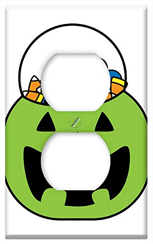 Switch Plate Outlet Cover - Halloween Candy Trick Or Treat Treat Holiday Trick ()