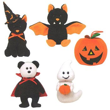Image Unavailable. Image not available for. Color  Ty Halloweenie Beanie  Babies - Halloween 2010 Complete Set of 5 e9217f39f207