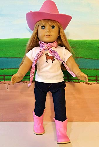 The Wishlist Store Western Cowgirl Cowboy Outfit ~ 18 Inch Doll Clothes Fits 18