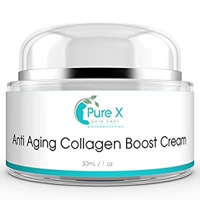 Anti Aging Cream / Anti Wrinkle Cream with Vitamin C & Retinol, Daily Collagen Cream Face Moisturizer Reduces Wrinkles, Rejuvenating Skin Care Face Lotion for Women & for Men 1oz Cream