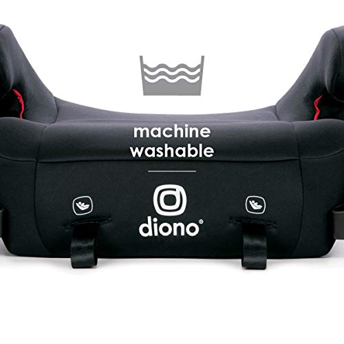 41VrtFBVNkL - Diono Solana 2 Latch, XL Space Backless Booster Seat, | Lightweight Backless Booster With Room To Grow, 8 Years 1 Booster Seat, Black