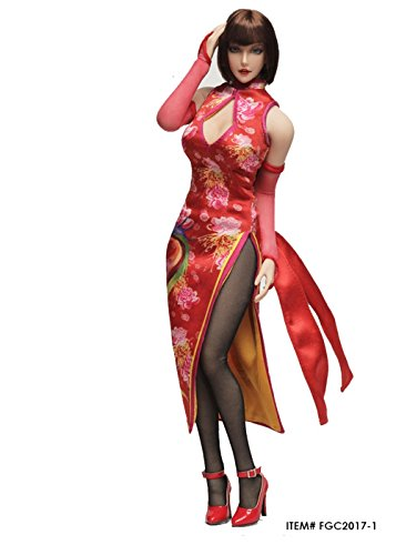 Tekken Female Characters Costumes (OBEST 1/6 Scale Tekken Cheongsam Male Costume Fcmaic Character Set(Red Version))