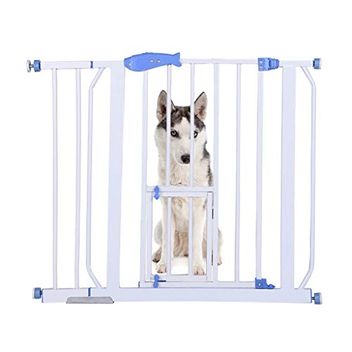 Safety Gates Baby Stair Fence Barrier Pet Dog Gate Door Ramp Guardrail Isolation, Adjustable Play Space Stair Door Barrier Ramp Guardrail Isolation Christmas Tree Gate (Within 7 Days Arrive) (White)