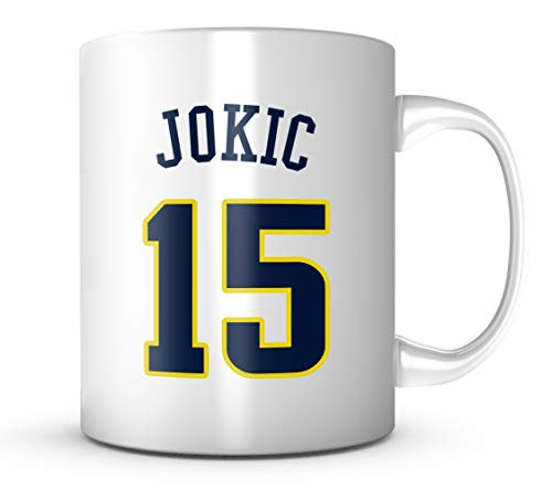 Nikola Jokic #15 Mug Basketball 11 oz Coffee Cup - Makes A Great Fan Gift ()