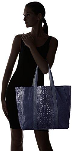Chicca Borse Damen 80043 Shopper, 62x36x21 cm Blau (Blu)