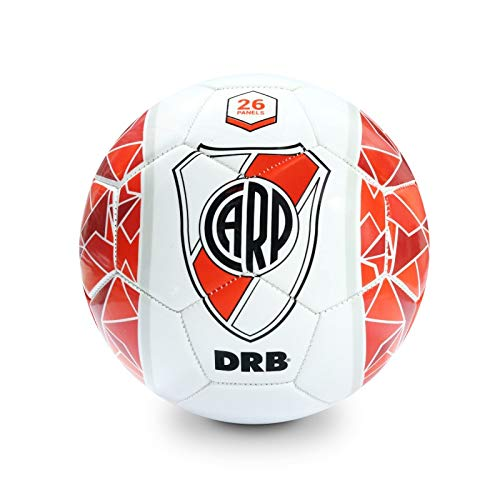 Soccer River Plate - RIVER PLATE Soccer Ball Official Licensed Product - N° 5 - White Edition - PVC Foam