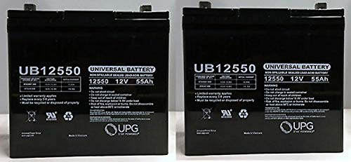 12V 55Ah Battery for Quantum QG Edge 2.0 Power Chair NF55-2 Pack ()