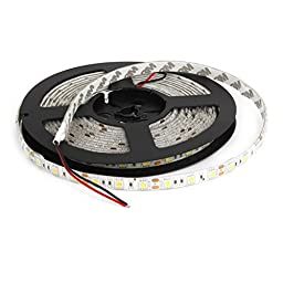 Auto White 300 LED 5050 SMD Flexible Lamp Strip 16ft Long Internal