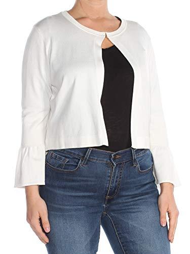 Tommy Hilfiger $49 Womens New 1171 Ivory Open Cardigan Wear to Work Top L B+B