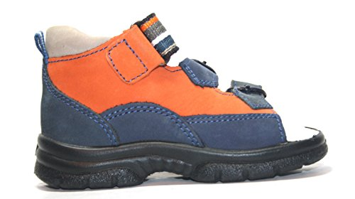 Jela , Sandales pour fille Bleu Blau/Orange 20