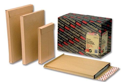New Guardian enveloppes Heavyweight Soufflet et patte autocollante 25mm 130g/m² Papier kraft 305x 250mm [Lot de 100]