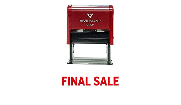Basic FINAL SALE Self Inking Rubber Stamp Red Ink Large Amazonca Office Products