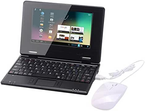 Atoah 7-inch Mini Laptop (1.2 GHz Wfi HD, 1 GB HDD, Android 4.1), Black