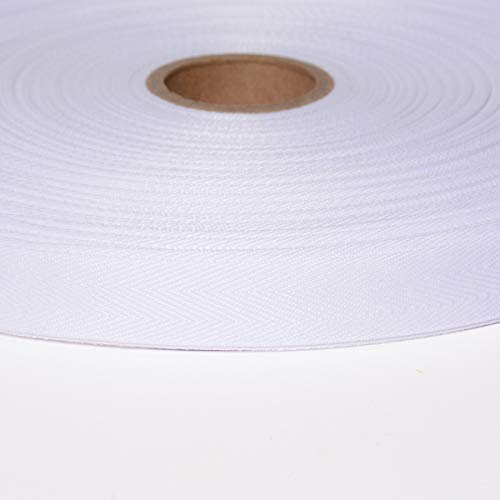AbbeyShea 3/4in Polyester Twill Tape White