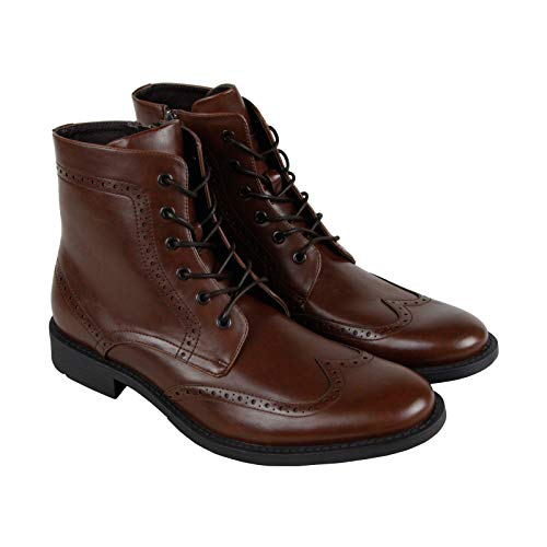 Unlisted by Kenneth Cole Men's Blind-Sided Oxford Boot, Brown Burnished, 10 M US