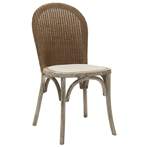 Safavieh Mercer Collection Sharon Finish Taupe Side Chairs, Antique Oak, Set of 2 by Safavieh (Image #2)