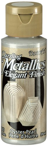 2 Ounce Oyster (DecoArt Dazzling Metallics 2-Ounce Oyster Pearl Acrylic Paint)