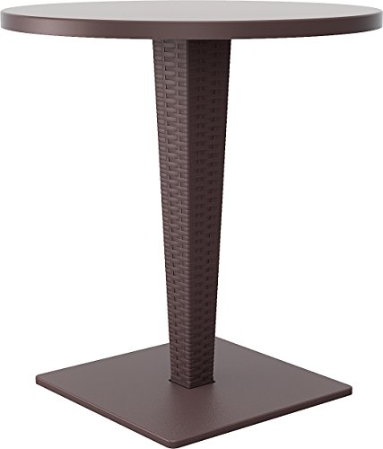 Compamia Riva Werzalit Round Top Dining Table Brown