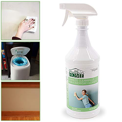 Chomp Painted Wall Cleaner Spray: Healthier Home 5-Minute CleanWalls 4-in-1 Multipurpose Cleaner - Painted Wall, Ceiling and Baseboard Cleaning Spray - Dirt, Dust, Odor and Stain Remover - 32 Ounces