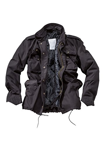Lunga Giacca Manica Surplus Fieldjacket 65 Us M Uomo Nero black Da aqx7RwfZ