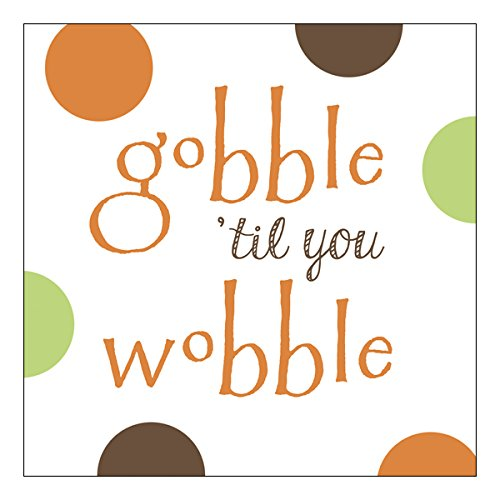 (Graphique Gobble Wobble Party Napkins - 20 Soft Triple-Ply Tissue Napkins With Colorful Polka Dots and