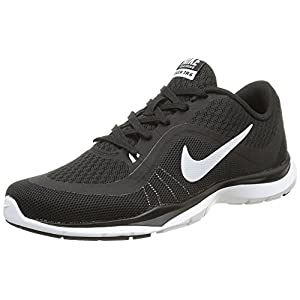 NIKE Women's Flex Trainer 6 Training Shoes Black/White Size 8 M US