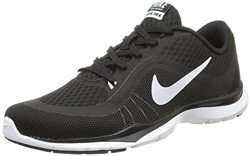 Nike Womens Flex Trainer 6 Black/White Training Shoe 9