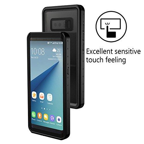 Samsung Galaxy Note 8 Waterproof Case, Sililoli Underwater Full Sealed Cover Snowproof Shockproof Dirtproof IP68 Certified Waterproof Case for Samsung Galaxy Note 8