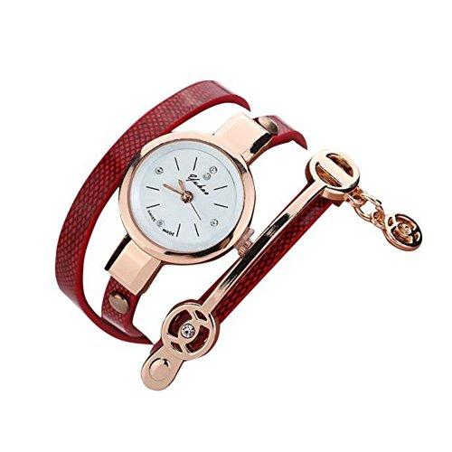 Baonoopy Frauen Metallband Uhr