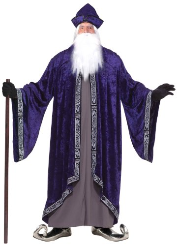 Forum Novelties Men's Plus Size Grand Wizard Costume White ()