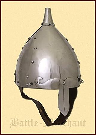 slawischer frühmittelalterlicher Casco, talla M de 2 mm Acero – schaukampftauglich – slawen – Vikingo