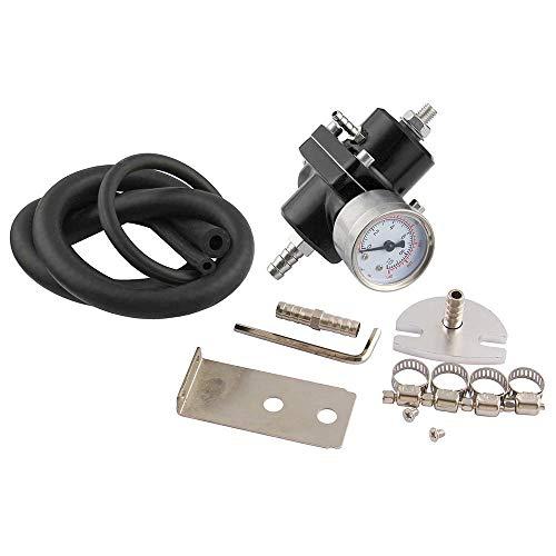 ZHANGBIN Car modification fuel pressure regulator fuel booster fuel pressure regulator square supercharger (Color : Black):