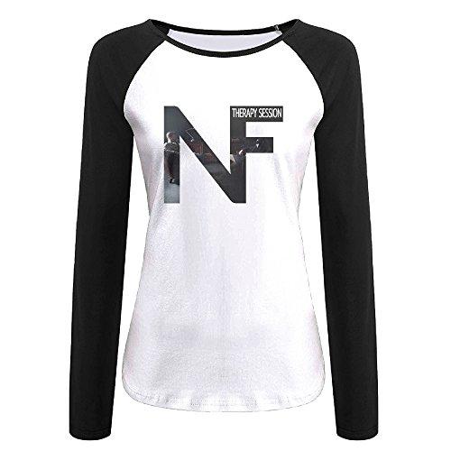 Creamfly Womens NF Therapy Long Sleeve Raglan Baseball Tshirt L