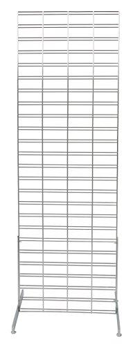 Chrome Slat Grid Standing Grid Screen (Grid Wall Unit) - 2 x 6 Foot by SSW Basics LLC