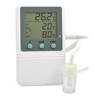 thermco tiempo/fecha sello Digital termómetro w/alarma ...