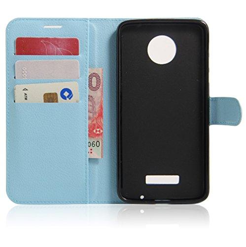 Funda Motorola MOTO Z,Manyip Caja del teléfono del cuero,Protector de Pantalla de Slim Case Estilo Billetera con Ranuras para Tarjetas, Soporte Plegable, Cierre Magnético D