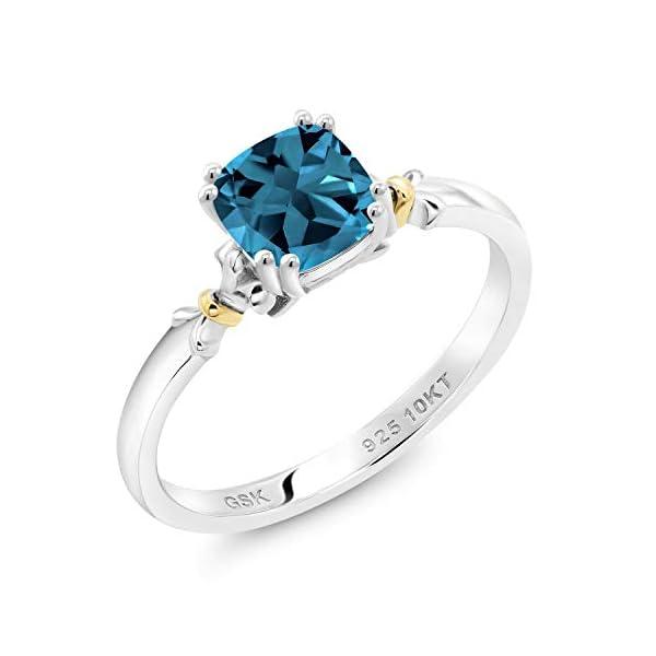 10K Rose Gold Heart Cut Blue Topaz Stud Earrings 6x6mm 1.82ct Valentine Gifts