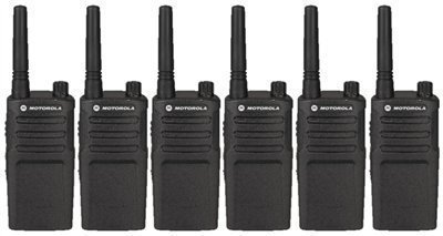 6 Pack of Motorola RMM2050 Two way Radio Walkie Talkies