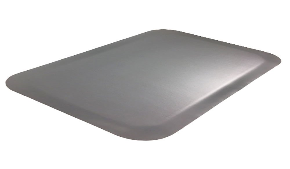 Luxury Step 1/2'' Premium Smooth-Top Anti-Fatigue Mat, 3' x 5', Grey