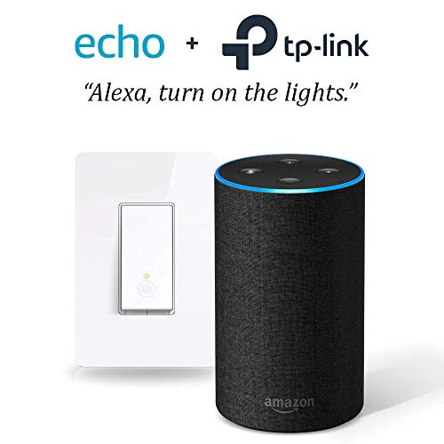 Price comparison product image Echo (2nd Gen) - Charcoal with Smart Wi-Fi Light Switch by TP-Link