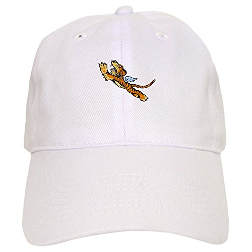 CafePress The Flying Tigers Baseball Cap with Adjustable Closure, Unique Printed Baseball Hat White ()
