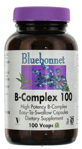 Bluebonnet B-Complex 100 К - 100 Вегетарианская капсулы [Здоровье и красота]