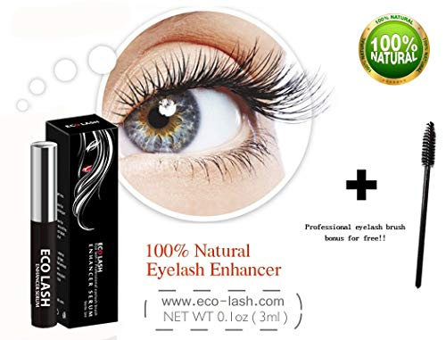 Grande Eco Lash Eyelash Growth Enhancer & Brow Serum | Growth Booster for 100% Natural Longer, Fuller, Luscious Lashes & Thicker, Lush Eyebrows | Cosmetic Eye Lash & Eyebrow Beauty Treatment
