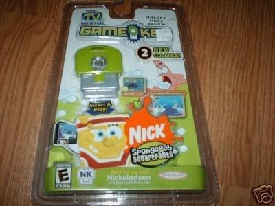 Plug It In & Play TV Games GameKey SpongeBob Squarepants Sponge Pop & Snowball Showdown, NK, Jakks Pacific, Game Key