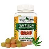 Premium Hemp Gummies by COLORADO HEMPLAB - 2500mg Hemp Extract, Zero THC CBD Cannabidiol - 100cts - Relief from Anxiety, Pain, Nausea, Stress, Inflammation & Depression - Made in The USA