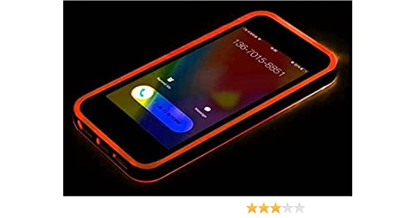 2a547ab37f7 Amazon.com: Orange Call LED Flash Clear TPU Back PC Hard Frame Case Cover  For iPhone 5 5S: Cell Phones & Accessories