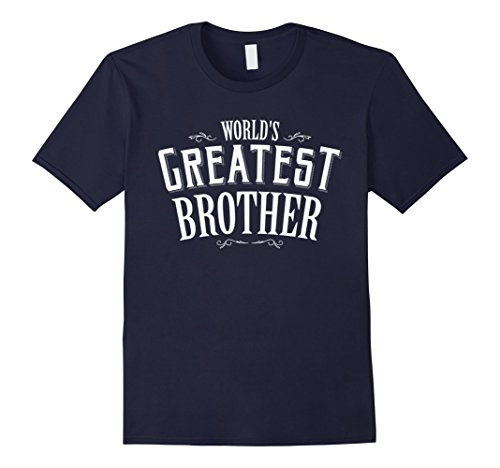 [Men's World's Greatest Brother T-Shirt XL Navy] (Greatest Halloween Costumes Ever)