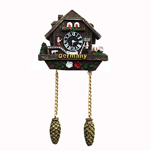 Fridge Magnet Cuckoo Clock Germany 3D Resin Handmade Craft Tourist Travel City Souvenir Collection Letter Refrigerator Sticker