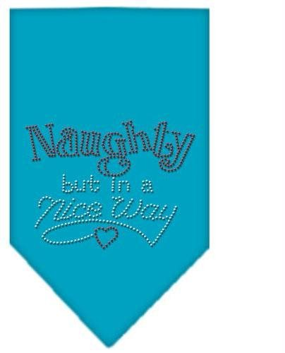 Naughty but in a Nice Way Rhinestone Bandana Turquoise Large Case Pack 24 Nau... by DSD