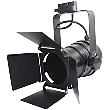 J.LUMI TRK9000 Track Light, Theater Light with 4-Leaf Barn Doors, Black Frost Paint Finish, Vintage or Modern Industrial, PAR30 Can, Compatible Track Rail RAL3002 (Bulb, Track Rail Not Included) d